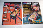 STERN NBA 2009 & BALLY NBA FASTBREAK 1997 ORIGINAL PINBALL MACHINE PROMO FLYERS