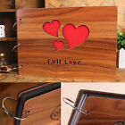 30 Pages DIY Kraft Photo Album Scrapbooking with Wood Cover US Fast Shipping