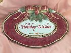 Fitz and Floyd Damask Holiday Wishes Plate - NICE!