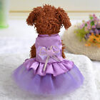 Small Dog Dress Soft Silk Tutu Skirt Chihuahua Yorkie Wedding Clothes XXS XS