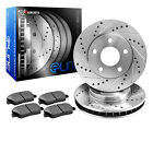 1995 Jeep Wrangler YJ Rio Grande 25L Front Drilled Slotted Brake Rotors + Ce