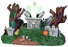 Lemax 24463 HAUNTED VILLAGE  CEMETERY Spooky Town Table Accent Animated Decor I