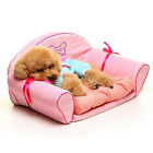 Luxury Pink Princess Dog Beds Detachable Wash Small Dog Sofa Bed For Chihuahua