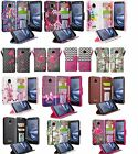 Moto Z Droid Design Wallet Credit Card ID KickStand Flip Phone Case Cover Force