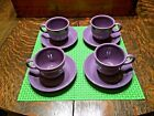 Fiestaware LILAC Cup and Saucer (4 Complete Sets) VHTF Fiesta Mint Condition