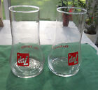 Set of 2 Vintage Retro 7-UP The Uncola Upside Down Drinking Glasses
