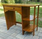 Vintage Mid Century OAK WOOD MISSION ART DECO WRITING OFFICE DESK