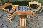 Antique French Gothic Renaissance Medieval 2 roman chairs chess table FREE SHIP