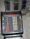 Vintage Burroughs Adding Machine with Beveled Glass Antique