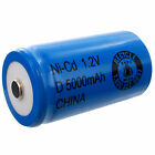 1.2V D 5000mAh NiCD Rechargeable Button Top Assembly Cell Battery FAST USA SHIP