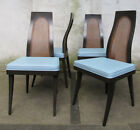 SET OF FOUR HARVEY PROBBER CANE DINING CHAIRS mid century modern