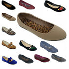 New Women Comfortable Ballet Flat Slip On Loafers Ballerina Shoes