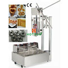 Commercial Stainless Steel 5L Manual Churros Maker Machine with 12L Deep Fryer
