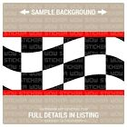Wall Border Set Checker Flag WAVE Red 12 ft x 6 in Vinyl Decal Sticker