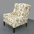 White Floral Design Vervain SUZANI Style Wing Back ARM CHAIR