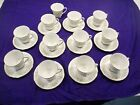 NORITAKE CHINA, CUP AND SAUCERS, 11 SETS, SAVANNAH PATTERN, EXCELLENT