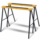 New 2 Pack Heavy Duty Saw Horse Steel Folding Legs Portable Sawhorse Pair