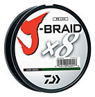 Daiwa J Braid X8 Braided Fishing Line 330 Yards 300M Dark Green Fishing Line