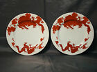 Fitz & Floyd Temple Dragon pair of salad plates