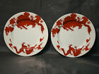 Fitz & Floyd Temple Dragon pair of bread and butter plates
