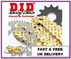 HYOSUNG XRX125SM 4 BOLT 1999-08 DID GOLD OE Chain & Sprocket Kit ** FREE LUBE **