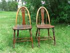 Vintage Antique 2 Pennsylvania Dutch Style Wood Chairs American and Ottawa