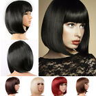 Lady Girl Bob Wig Womens Short Straight Bangs Full Hair Wigs Cosplay Party