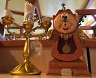 Disney Parks Beauty  the Beast Cogsworth Clock and Lumiere Light Up Figurine