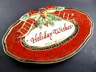 FITZ & FLOYD DAMASK HOLIDAY WISHES SENTIMENT TRAY (A24)