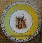 vintage hand painted Bavaria fine china porcelain Bowl Peacocks Reticulated