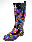 Capelli New York PAINTED BUTTERFLIES 135H Black 6 Rubber Rain Boots NEW IN BOX
