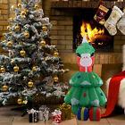 5 Ft Airblown Inflatable Santa Claus In Christmas Tree Decor Lawn Yard Outdoor