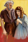 StElmo 1914 Film Poster Hand Painted On Canvas Oil Painting Silent Drama Film