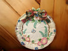 FITZ AND FLOYD WOODLAND SPRING 3 DIMENSIONAL PLATE W FLOWERS, BUTTERLIES, RIBBON