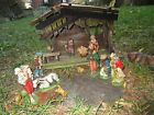 Vintage Nativity Set Manger Scene Crche Stable Figures Made in Italy