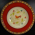 Fitz & Floyd Global Market Bird Red Rimmed Soup Salad Bowl