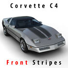 Chevrolet Corvette C4 Sport Front Hood Racing Stripes Decal Pre-cut 1984 - 1996