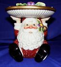 Fitz and Floyd Santa Candy Christmas Pillar Candle Holder