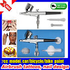 New Dual Action Air Brush Spray Gun Airbrush compressor Kits set Art Paint Craft