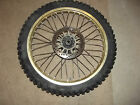 1987 Yamaha YZ 490 front wheel tire & Rotor for an 87 YZ490
