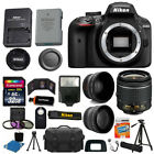 Nikon D3400 Digital SLR Camera 3 Lens Kit 18 55 VR Lens + 32GB Best Value Bundle