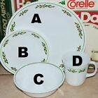 Corning Corelle HOLLY DAYS  berry Christmas dinner dessert plate bowl cup-CHOOSE