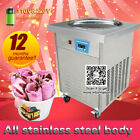 single round pan fried ice cream machine,fried ice cream maker with temp control