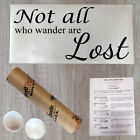 Wall Decal Quote Not All Who Wander Are Lost Removable Wall Stickers Decal VM1