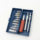 16pc Hobby Razor Knife Set with Case Exacto Blades fits knife Stencil