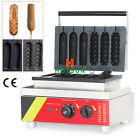 Commercial Nonstick Electric Hot Dog Lolly Waffle Stick Maker Iron Machine