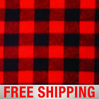 Fleece Fabric Lumberjack Plaid Red 60 Wide Style 17061 2 Free Shipping