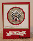 Gingerbread House GREETING CARD KIT Lot of 4 Stampin Up Christmas Banner