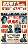 Hank Williams Jr. Grand Ole Opry 1967 POSTER Rare LARGE