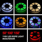 50 100 150 LED Rope Light 110V Home Party Christmas Decorative In Outdoor New